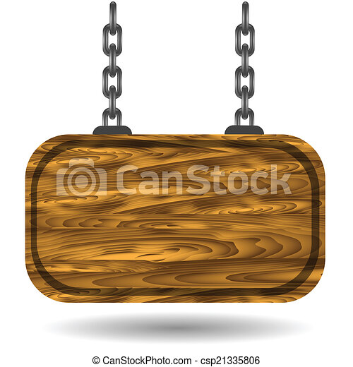 wooden sign - csp21335806