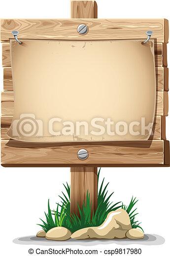 Wooden sign - csp9817980