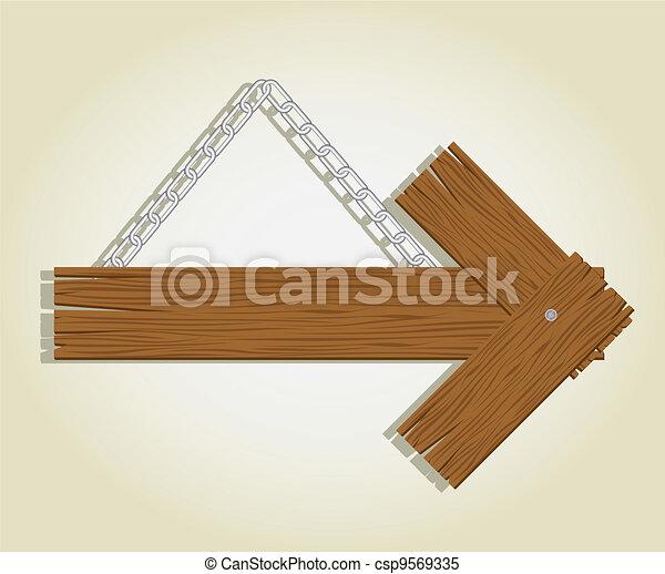 wooden signage - csp9569335