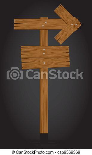 wooden signage - csp9569369