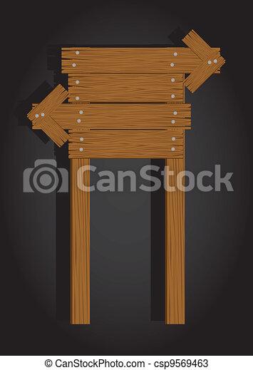 wooden signage - csp9569463