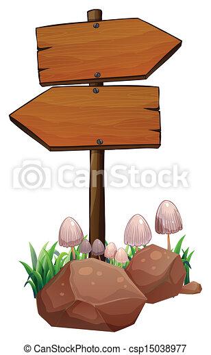 Wooden signage - csp15038977