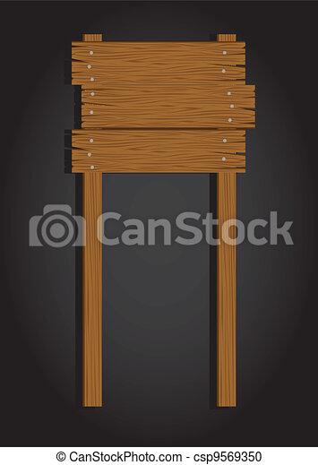 wooden signage - csp9569350