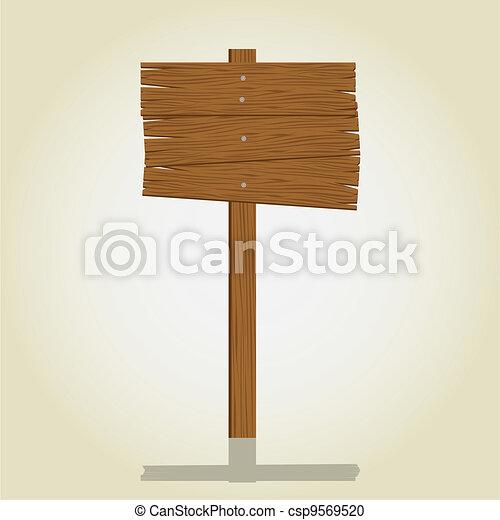 wooden signage - csp9569520