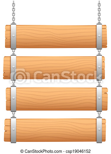 Wooden Signboard Wooden Signboard Hanging On Metal Chain Clipart