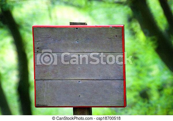 Wooden signboard closeup - csp18700518