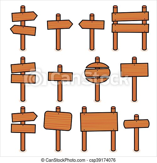 wooden signs vector set vectors illustration search clipart rh canstockphoto com wood arrow sign vector wooden sign vector free download