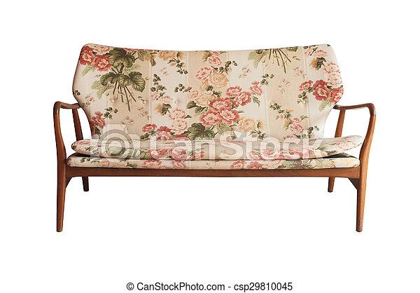 Wooden sofa vintage style