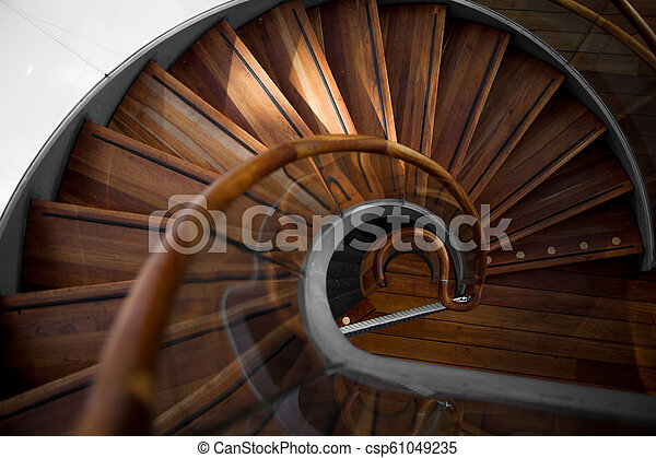 Wooden Spiral Staircase View From Above Wooden Spiral Staircase