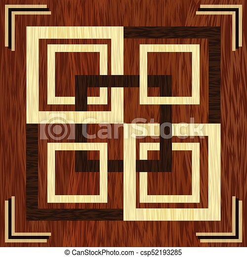 Wooden Square Inlay Light And Dark Wood Patterns Art Decoration Template Veneer