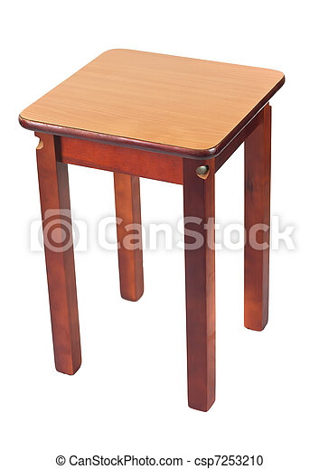 Wooden stool - csp7253210