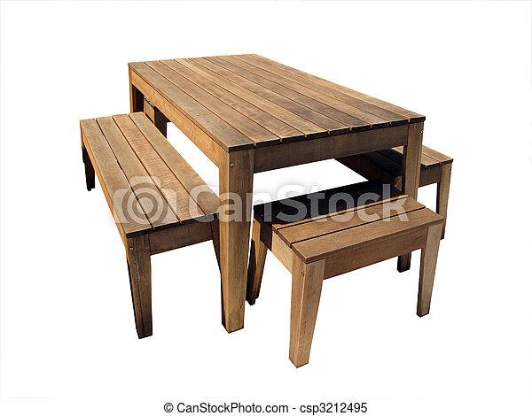 Stoelen Voor Buiten.Wooden Table Buiten Stoelen Buitenmeubilair Houten Vrijstaand