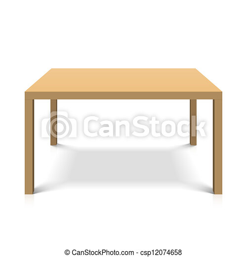wooden table - csp12074658