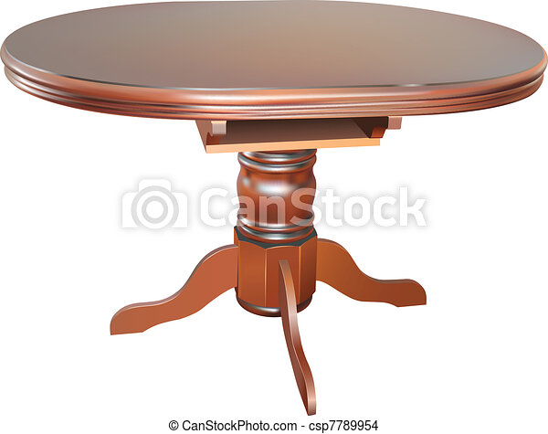 wooden table - csp7789954