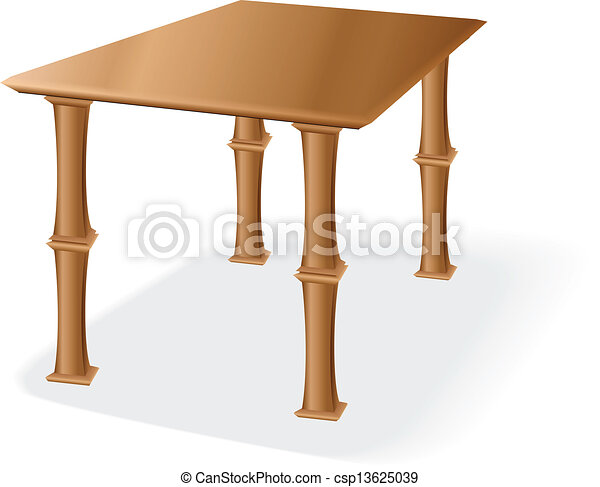Wooden table - csp13625039