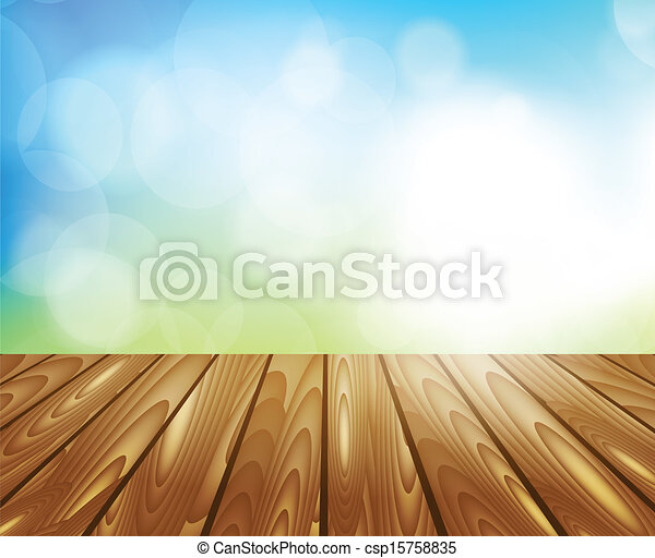 Wooden table - csp15758835