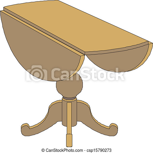 wooden table - csp15790273