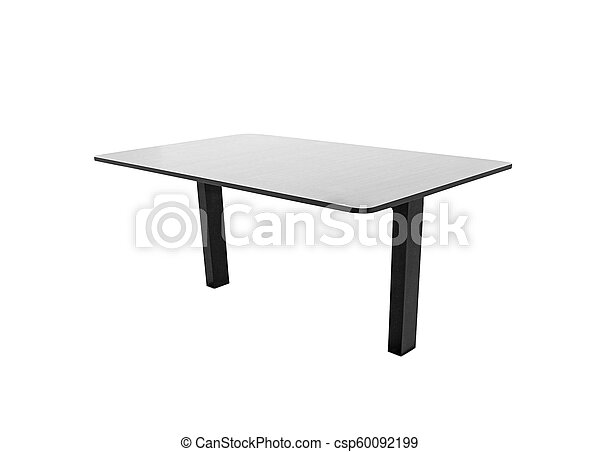 Wooden table isolated on white background - csp60092199