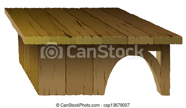 Wooden Table - csp13679007