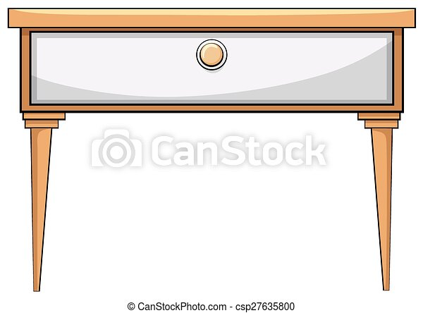 Wooden table - csp27635800
