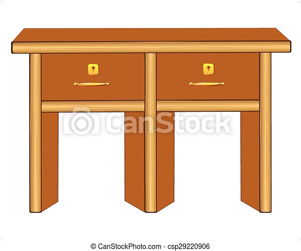 Wooden table - csp29220906