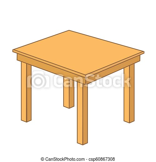 Wooden table - csp60867308