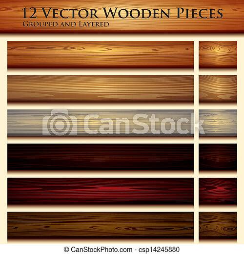 Wooden texture seamless background illustration - csp14245880