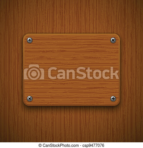 Wooden texture with framework. Vector illustration  - csp9477076