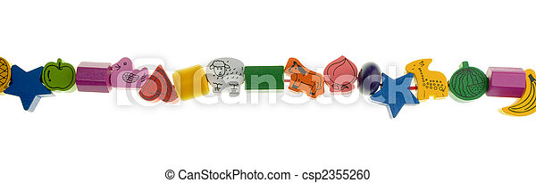 Wooden toy beads - csp2355260