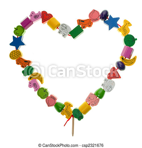 Wooden toy heart - csp2321676