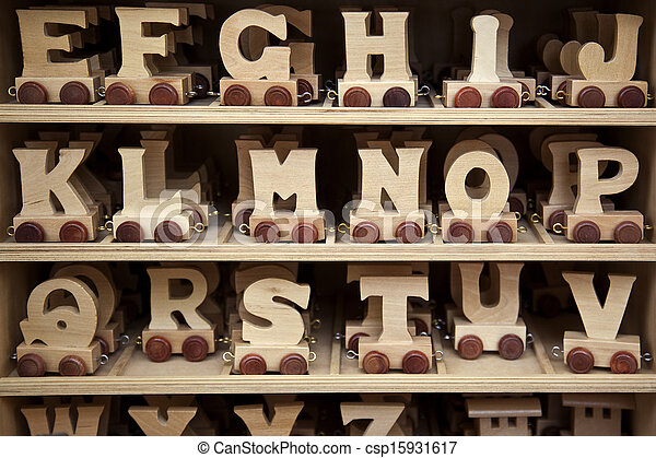 Wooden Toy Letters - csp15931617