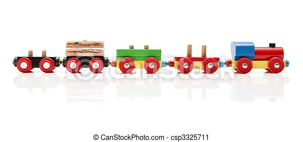 Wooden toy train - csp3325711