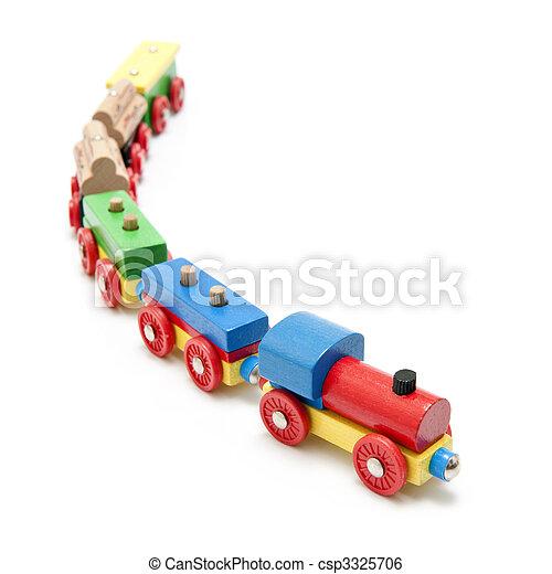 Wooden toy train - csp3325706