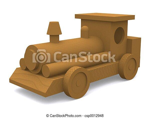 Wooden Train Engine - csp0012948