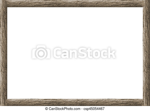 Wooden trunk borders white frame background. Rustic wooden trunbk ...