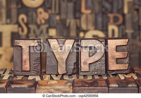 wooden type concept - csp42590956