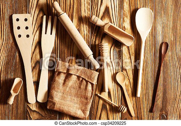 Wooden utensils  - csp34209225