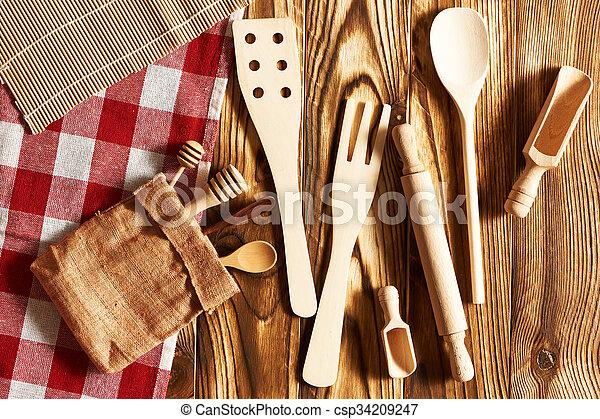 Wooden utensils  - csp34209247