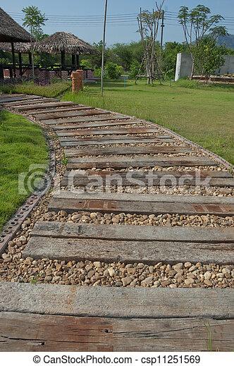 Wooden walkway - csp11251569