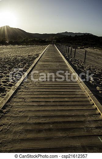 wooden walkway - csp21612357