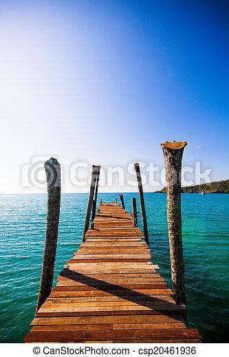 wooden walkway - csp20461936