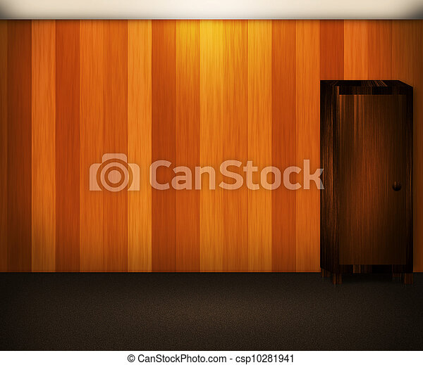 Wooden Wall Interior Background - csp10281941