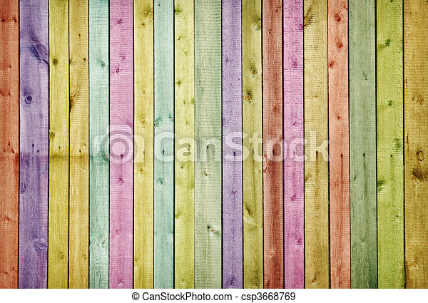 Wooden wall painted in colors of rainbow. Wooden wall... stock ...