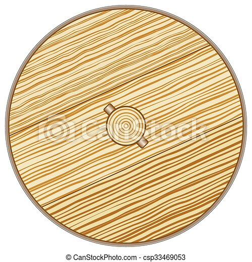 Wooden Wheel Illustration Of The Old Rustic