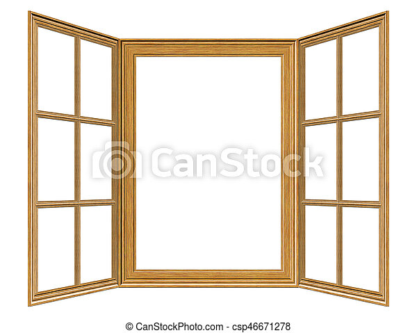 old grunge wooden window frame illustration on white picture rh canstockphoto co uk Stained Glass Window Clip Art free window frame clipart