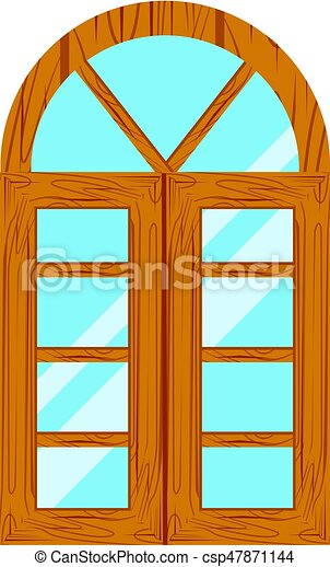 Wooden window frames view . Wooden window frames view ...