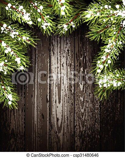 Wooden winter background. - csp31480646