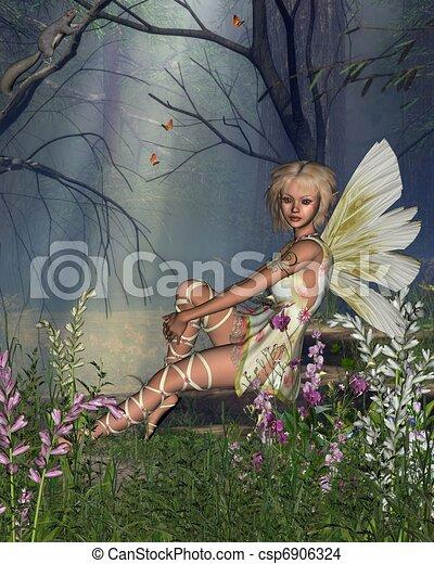 Woodland Fairy - csp6906324