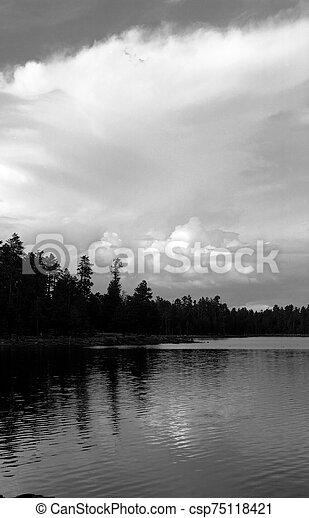 Woods Canyon Lake Arizona - csp75118421