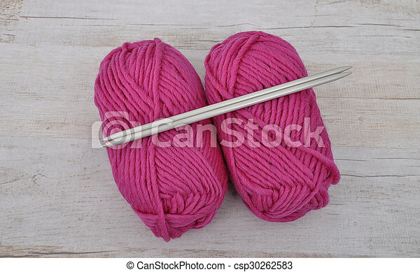 Wool and needles - csp30262583